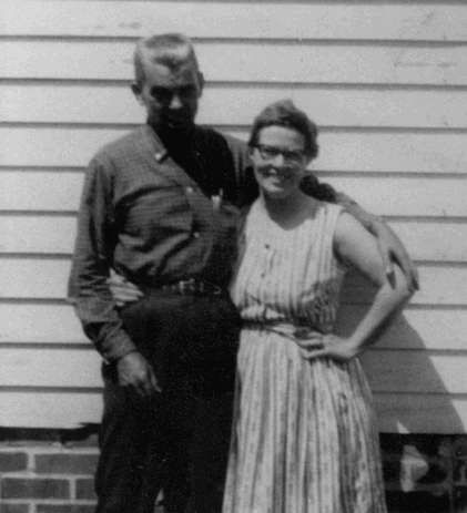 Harvey Lewis and Hattie Roberson in younger days
